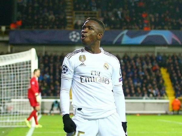 Cầu thủ Vinicius Junior trong màu áo của Real Madrid